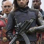 Avengers Infinity War Bucky Barnes Silver Armor Jacket