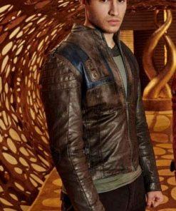 Seg El Krypton Brown Leather Jacket