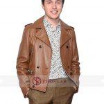 Nick Robinson Love Simon Brown Leather Jacket