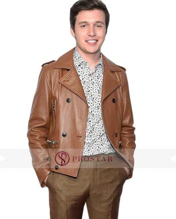 Nick Robinson Love Simon Brown Leather Jacket