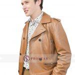 Love Simon Premiere Brown Leather Jacket