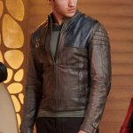 Cameron Cuffe Seg El Krypton Brown Leather Jacket