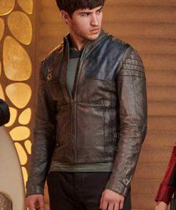 Cameron Cuffe Seg El Krypton Brown Leather Jacket
