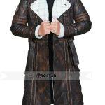 Elder Maxson Fallout 4 Brown Shearling Leather Coat