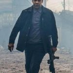 Denzel Washington Black Wool Jacket