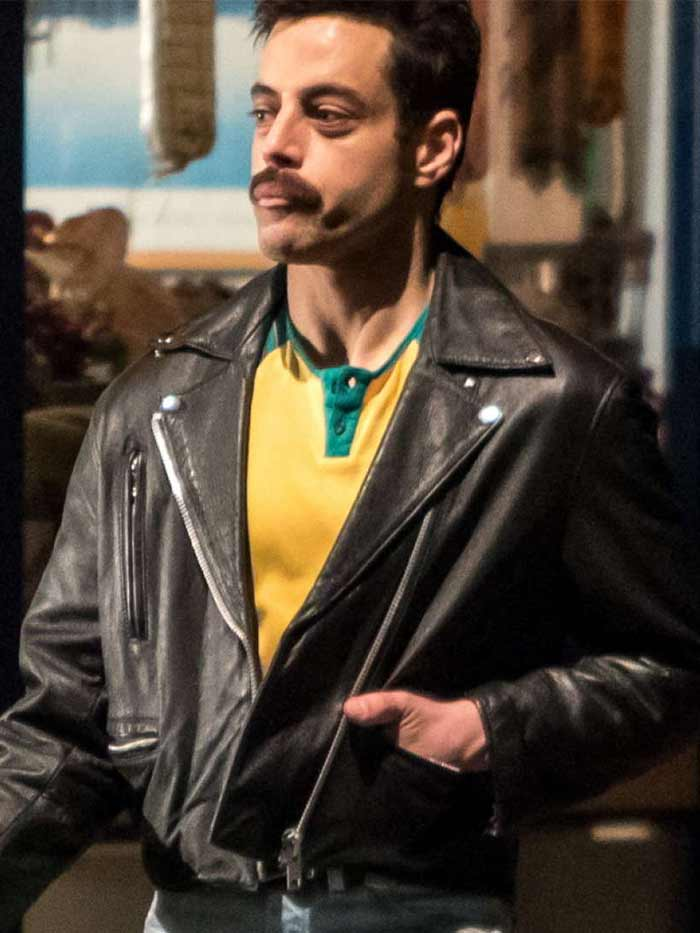 Rami Malek Bohemian Rhapsody Leather Jacket