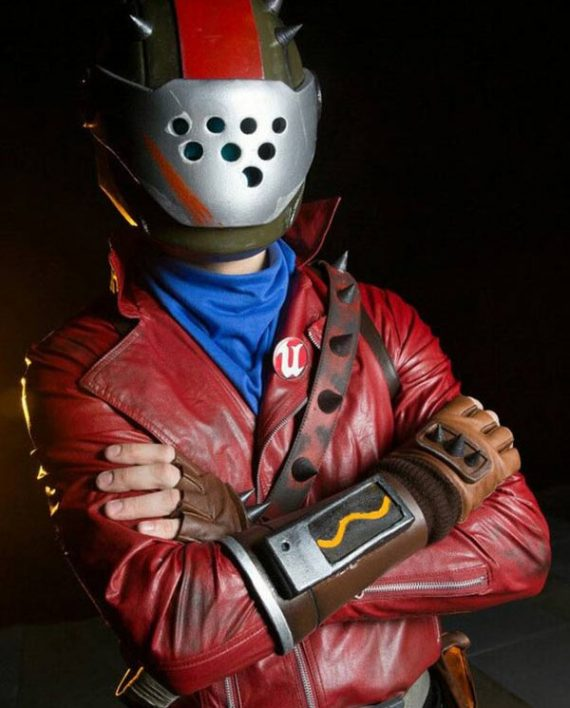 Video game Fortnite Rust Lord Motorcycle Leather Jacket