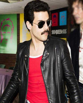 Rami Malek Bohemian Rhapsody Black Racer Jacket