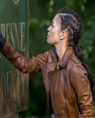 The Walking Dead Season 9 Brown Leather Jacket