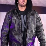 AJ Styles TNA Black Leather Jacket