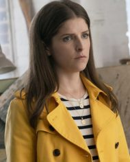 A Simple Favor Stephanie Smother Yellow Jacket Coat