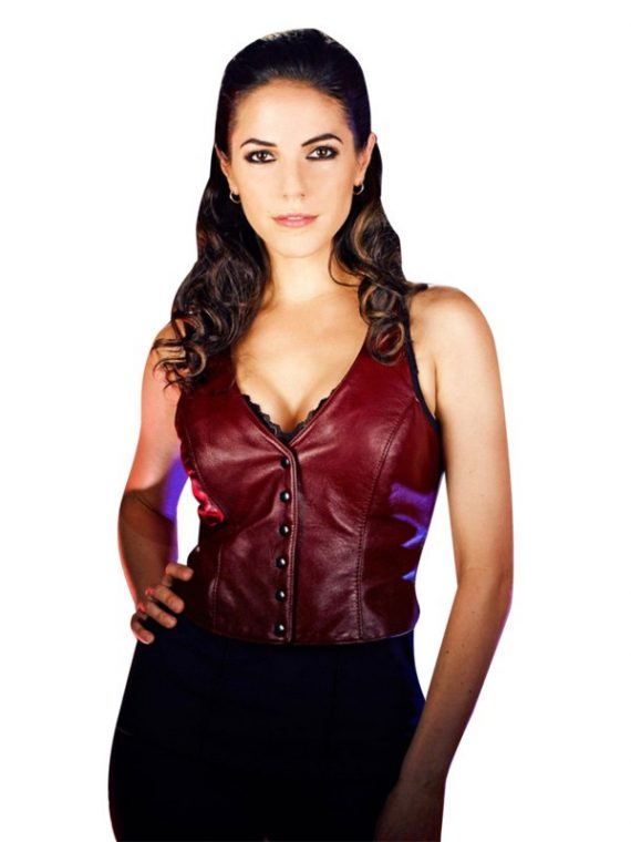 Bo Dennis Red Leather Vest