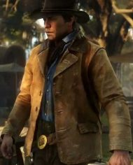 Arthur Morgan Tan Brown Leather Jacket