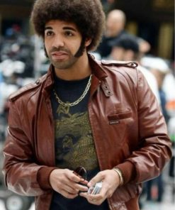 Drake Anchorman 2 Brown Leather Jacket