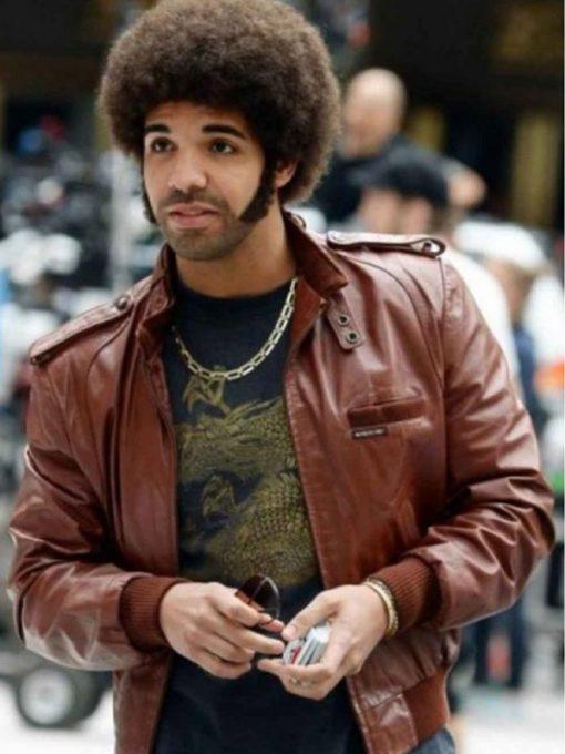 Drake Anchorman 2 Brown Leather Jacket