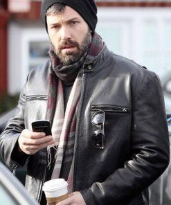 Stylish Men Black Leather Jacket