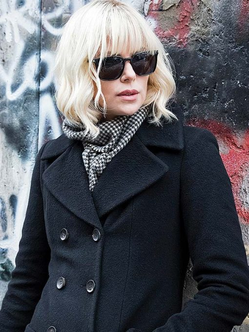 Atomic Blonde Black Wool Coat
