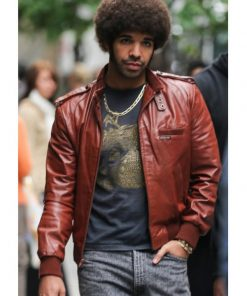 Anchorman 2 Aubrey Graham Leather Jacket