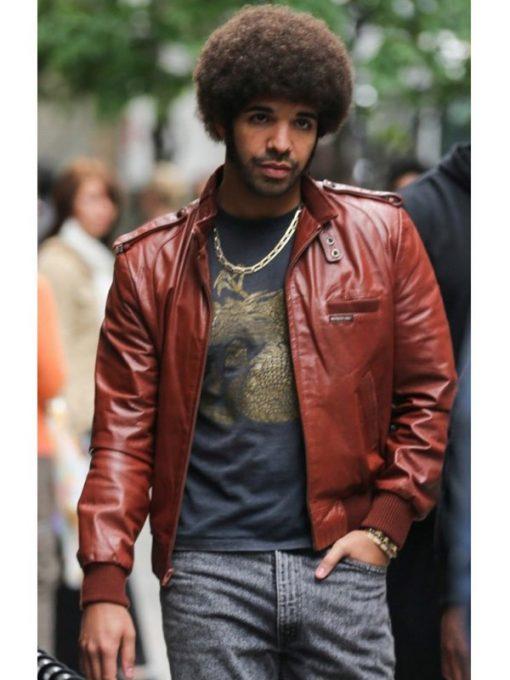 Anchorman 2 Aubrey Graham Leather Jacket