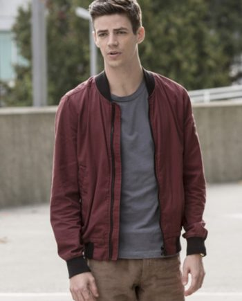 Barry Allen Red Bomber Jacket