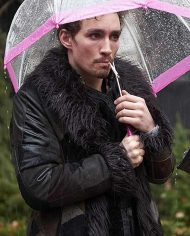 Robert Sheehan The Umbrella Academy Shearling Coat