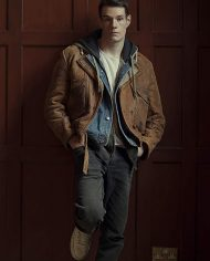 Sex-Education-Adam-Groff-Brown-Leather-Jacket
